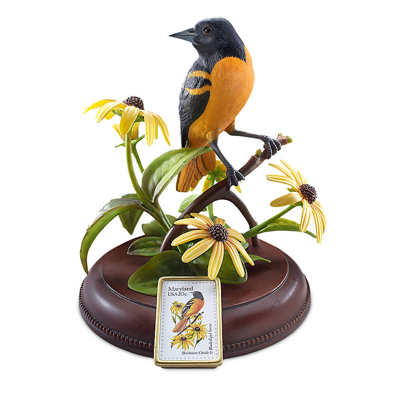Porcelain Maryland, Baltimore Oriole by Lenox, Sculpture by Lenox