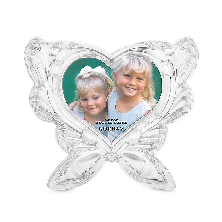 Crystal Sentimental Traditions Butterfly Frame by Gorham, Home Decorating Picture Frames by Lenox