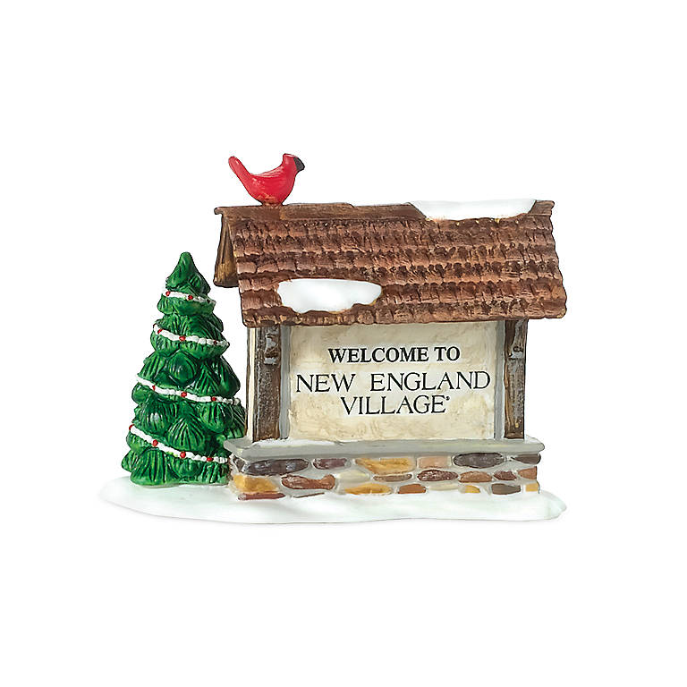 """Ceramic Welcome To New England Village"""" Sign"""", Gifts by Occasion Christmas by Lenox"""