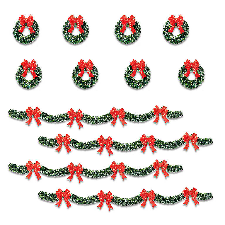 Department 56 Village Holiday Boughs, Set of 12, Sculpture by Lenox
