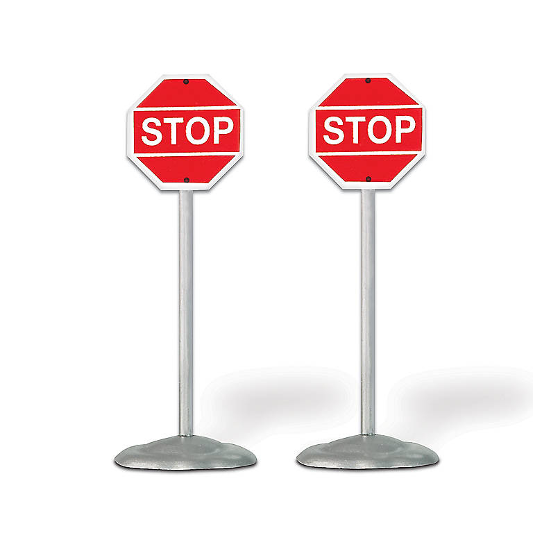 Metal Department 56 Village Stop Signs, Set of 2, Sculpture by Lenox