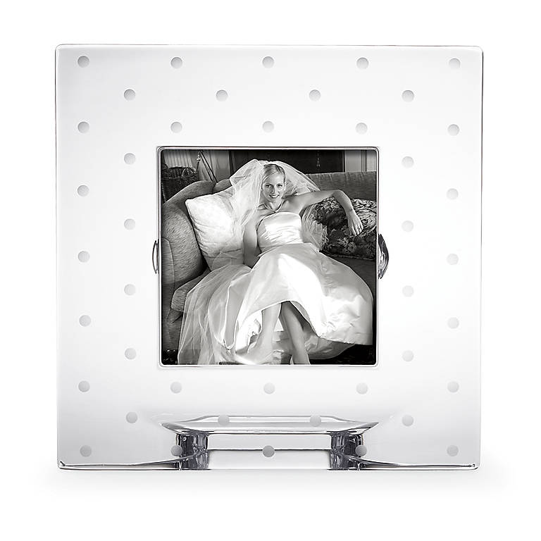 Crystal kate spade Larabee Dot 3x3 Crystal Frame, Home Decorating Picture Frames by Lenox