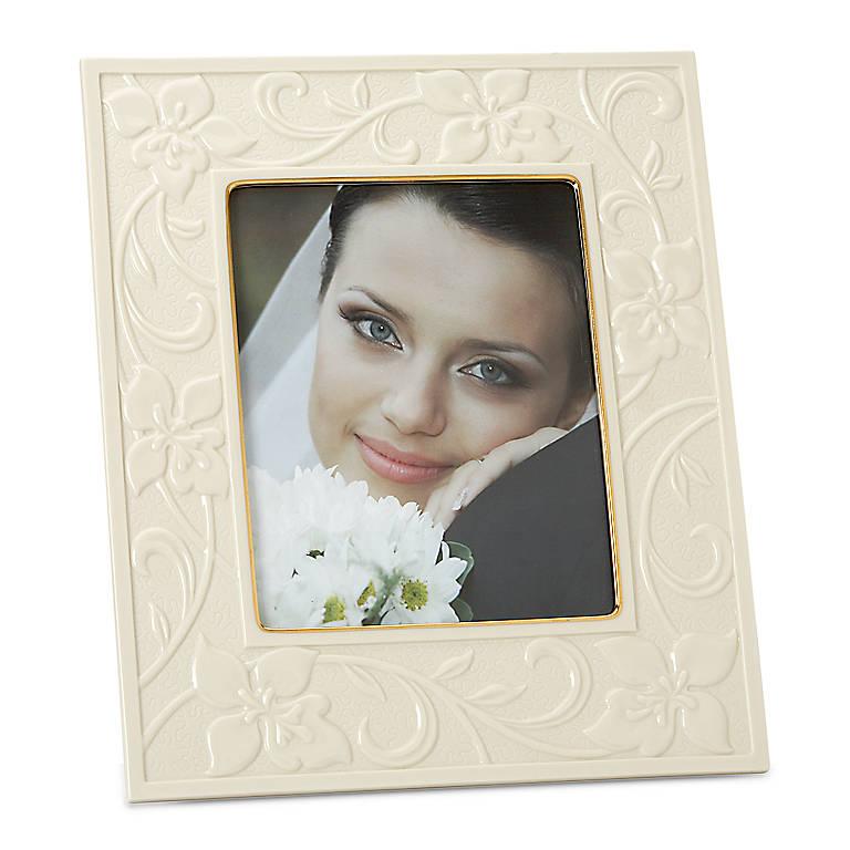 Porcelain Portrait Gallery Flora 8x10 Frame by Lenox, Home Decorating Picture Frames by Lenox