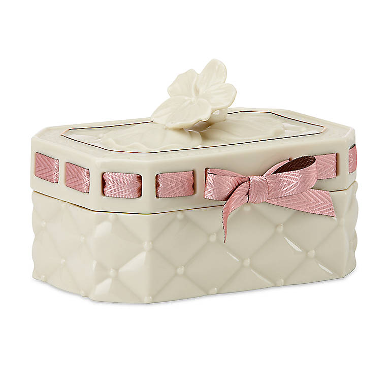 Porcelain Tied with Love Serena Sentiment Box by Lenox, Gifts by Occasion St. Valentine's Day by Lenox