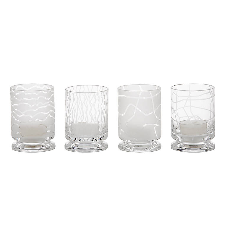 Glass Karin Votives, Set of 4 by Dansk, Home Decorating Candles by Lenox