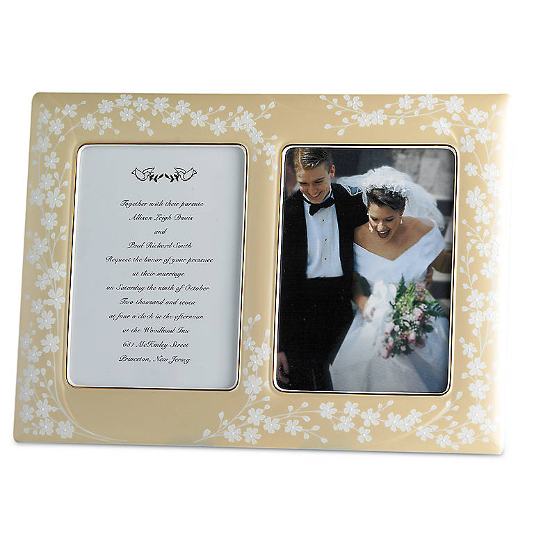 Porcelain Bellina Gold Invitation Frame by Lenox, Home Decorating Picture Frames by Lenox