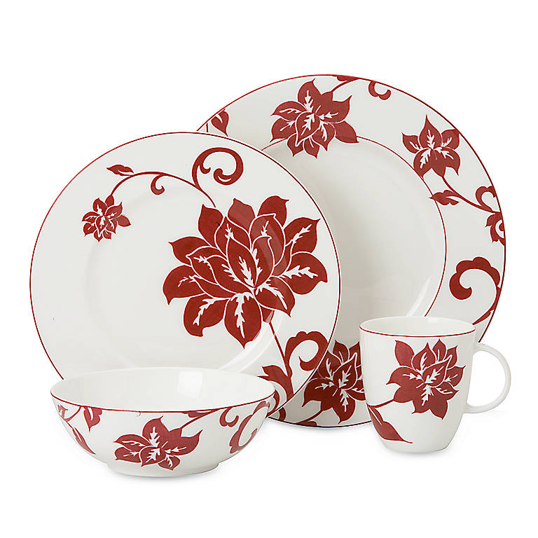 Bone China Simply Fine Lenox Batik 4-piece Place Setting, Dinnerware Tableware Dishes and China by Lenox