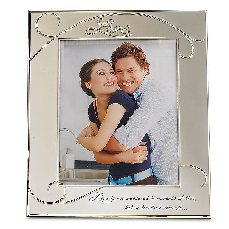 Silverplated Memory Lane Love 8x10 Frame by Lenox, Home Decorating Picture Frames by Lenox