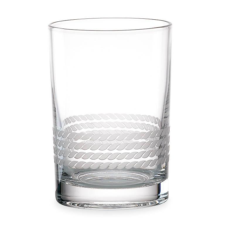 Crystal kate spade Wickford Double Old Fashioned Glasses, Set of 4, Dinnerware Tableware Barware by Lenox