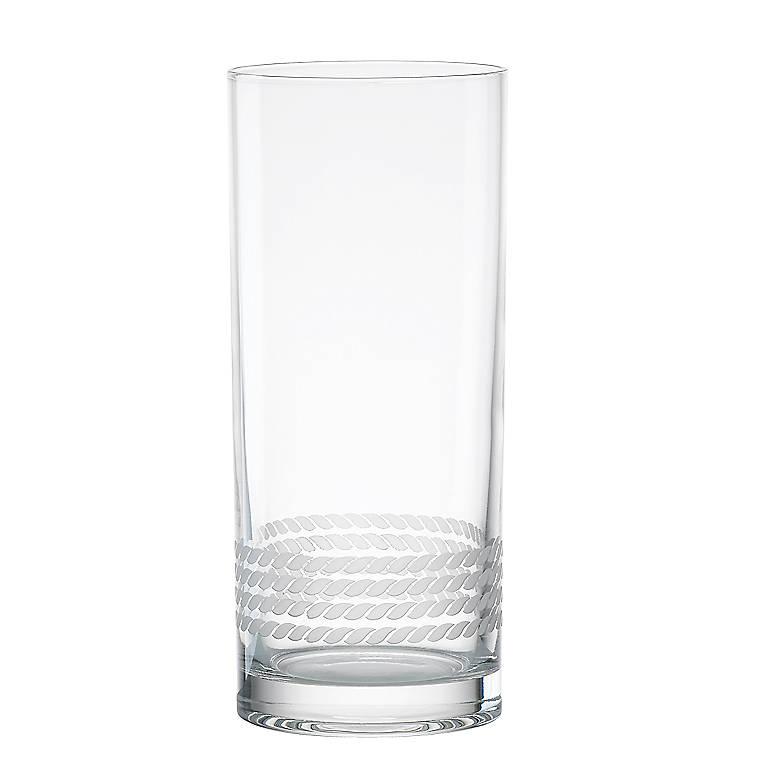 Crystal kate spade Wickford Tom Collins Glasses, Set of 4, Dinnerware Tableware Barware by Lenox