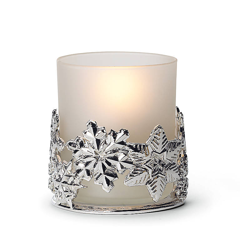 Metal Gorham Snowflake Votive, Home Decorating Candles by Lenox
