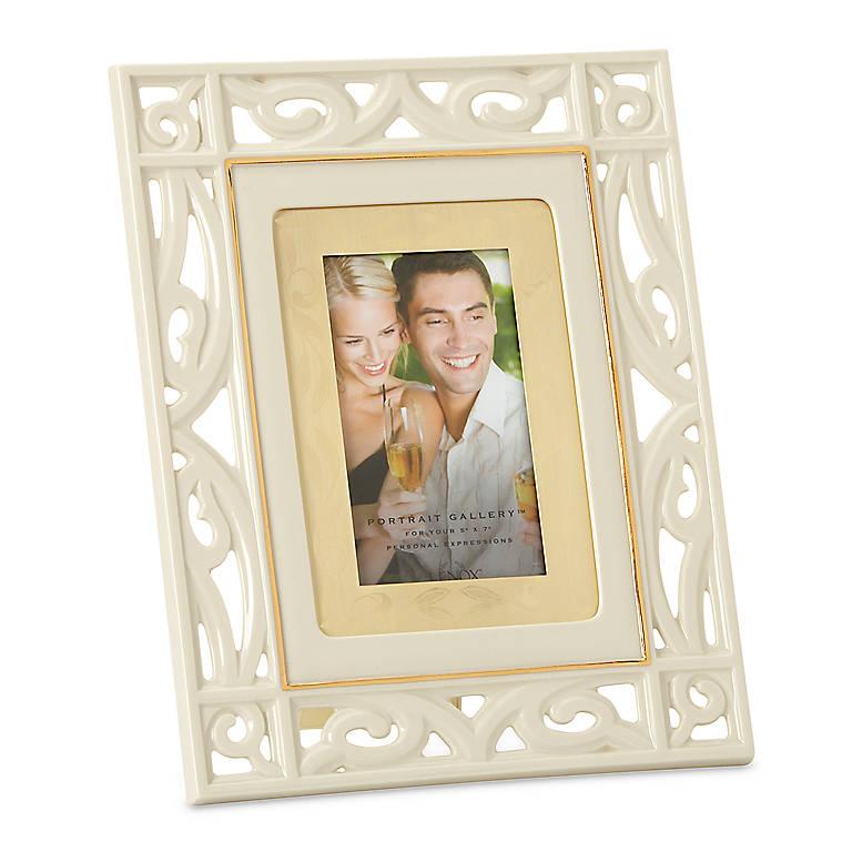 Porcelain Portrait Gallery Gateway 5x7 Frame by Lenox, Home Decorating Picture Frames by Lenox