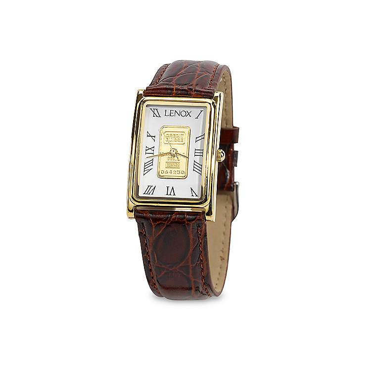 Gold Lenox Men's Classic Gold Ingot Watch, Women's Watches by Lenox