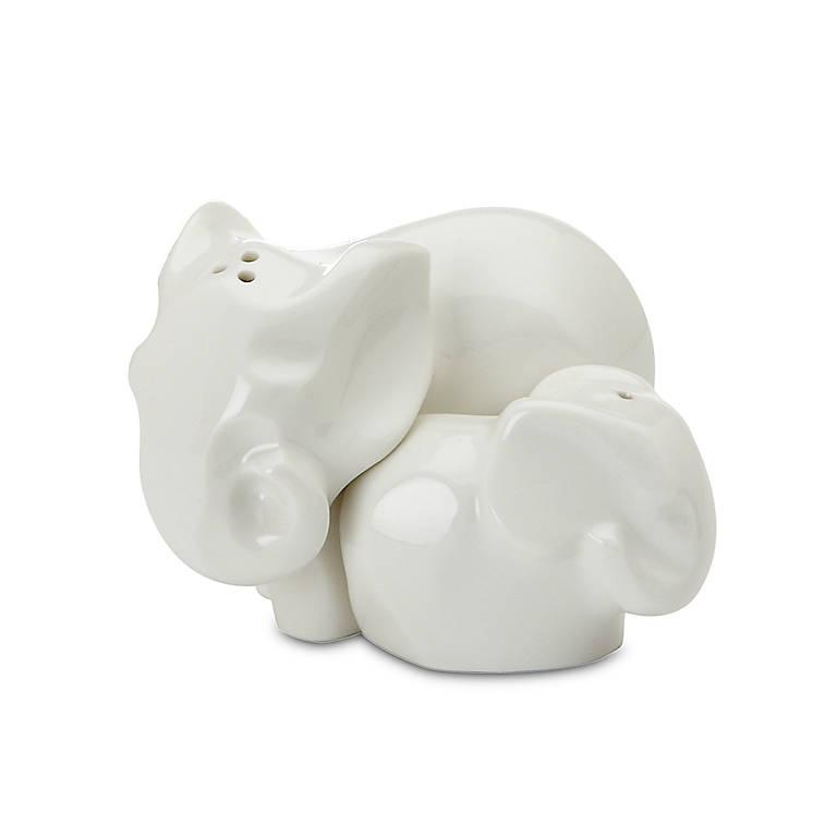 Porcelain Dansk Elephant Salt & Pepper Set, Dinnerware Serving Pieces Salt and Pepper Shakers by Lenox