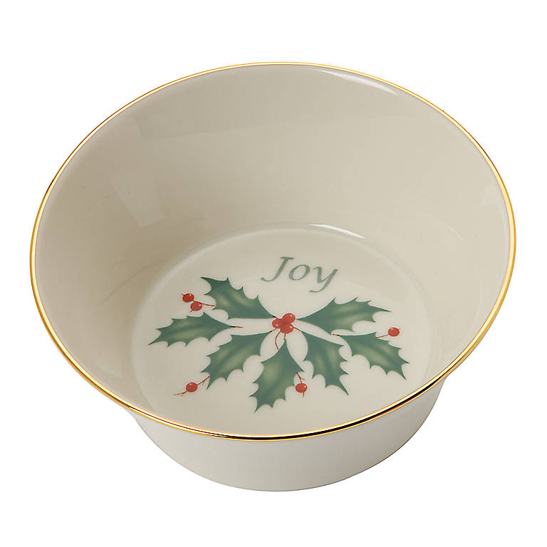 Ivory China Holiday Sentiment Dish by Lenox - Joy, Gifts by Occasion Christmas by Lenox