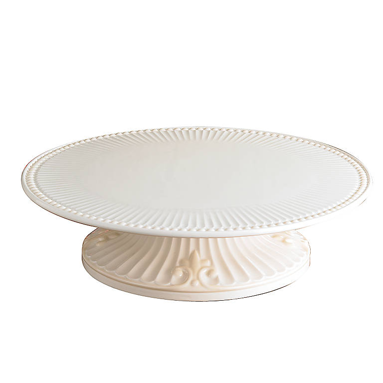 Earthenware Lenox Butler's Pantry Pedestal Cake Plate, Dinnerware Serving Pieces Cake Plates by Lenox