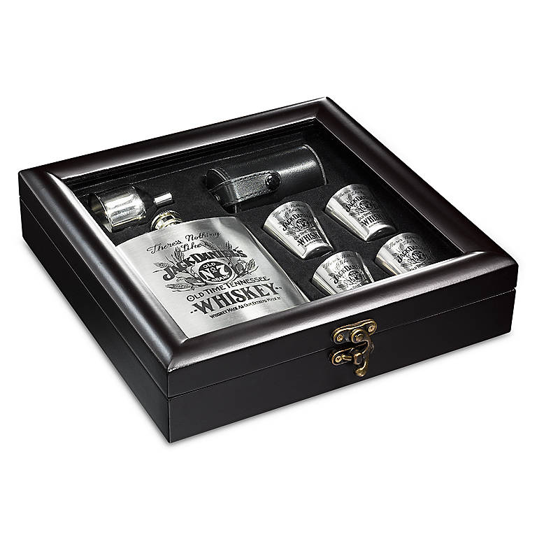 Jack Daniel's Flask Boxed 7-piece Set, Dinnerware Tableware Barware by Lenox