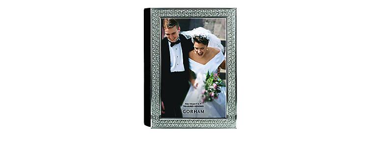 Metal Gorham Razzle Dazzle 4x6 Photo Album, Clear, Home Decorating Picture Frames by Lenox