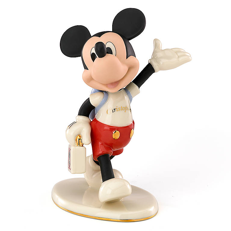 Ivory China Mouseketeer Days with Mickey by Lenox, Sculpture by Lenox