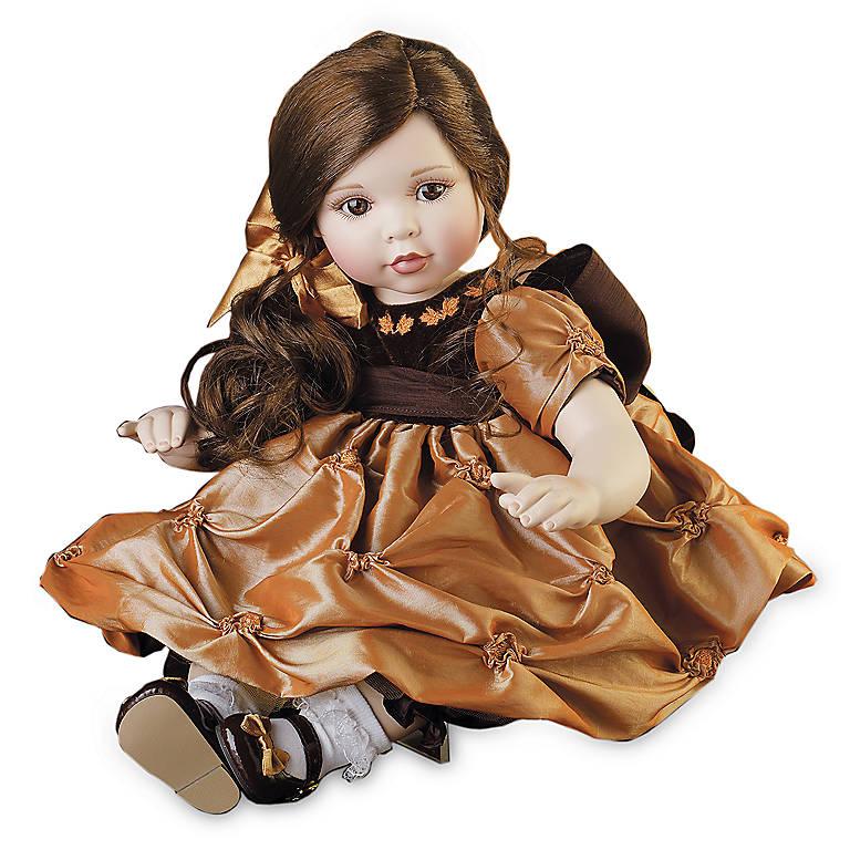 Porcelain Marie Osmond Harvest Doll, Dolls by Lenox