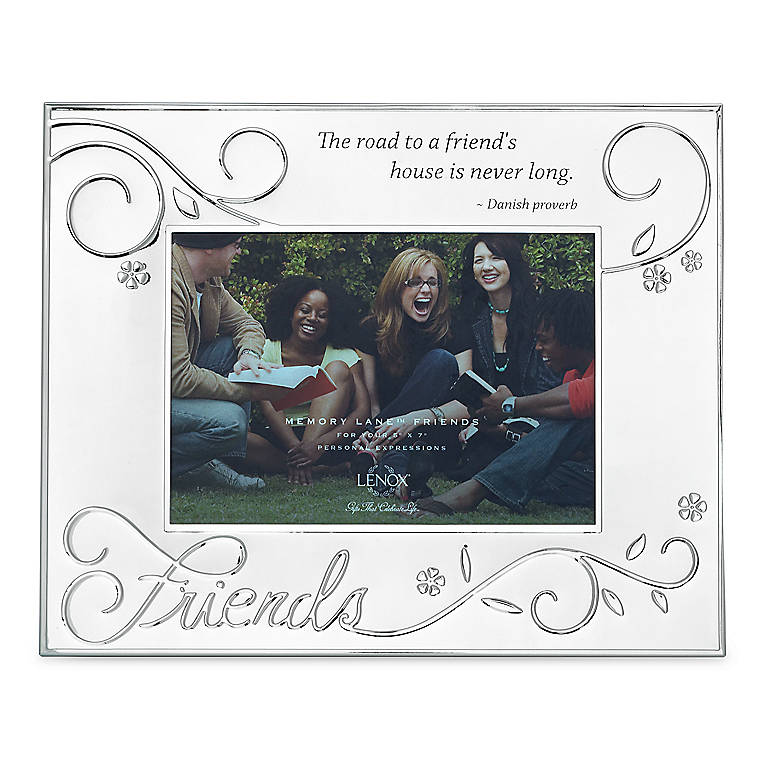 Silverplated Lenox Memory Lane Friend 5x7 Frame, Home Decorating Picture Frames by Lenox