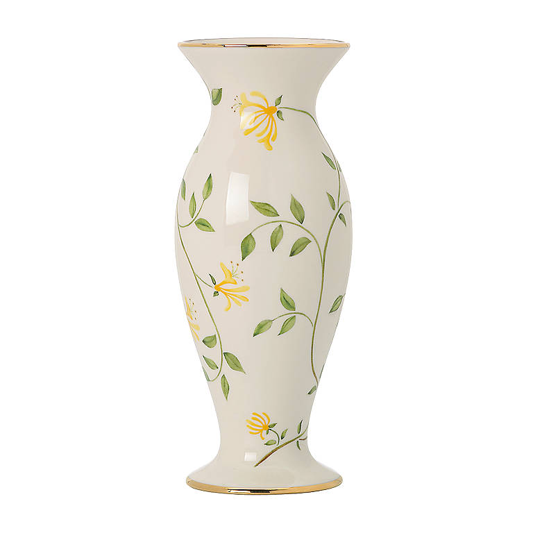 Ivory China Honeysuckle Bud Vase by Lenox, Home Decorating Vases by Lenox