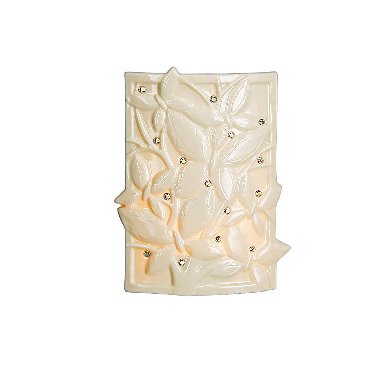Ivory China Crystal Butterfly Night Light by Lenox, Lighting Table Lamps by Lenox