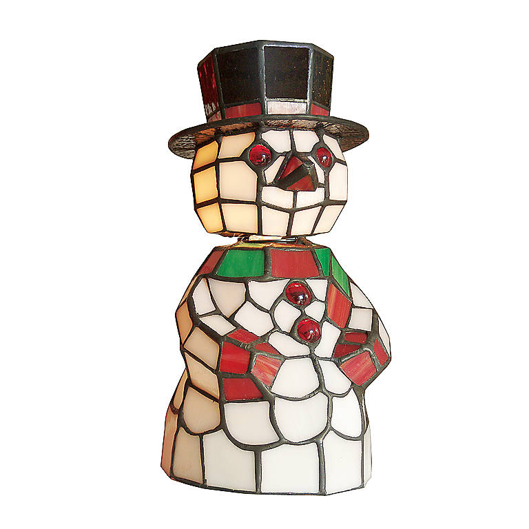Dale Tiffany Snowman Lamp, Lighting Table Lamps by Lenox