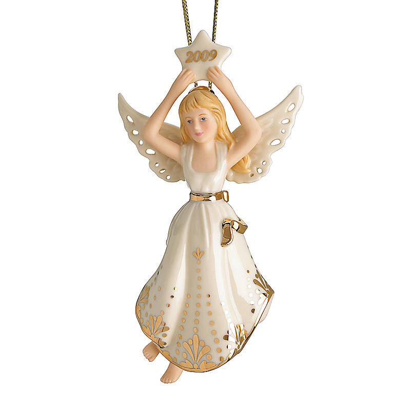 Ivory China Angel of Heavenly Light 2009 Annual Ornament by Lenox, Miniatures and Figurines Angels by Lenox