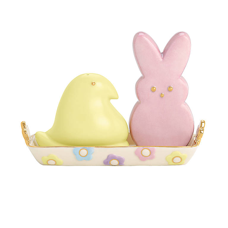 Ivory China PEEPS Bunny and Chick Salt & Pepper Set by Lenox, Dinnerware Serving Pieces Salt and Pepper Shakers by Lenox
