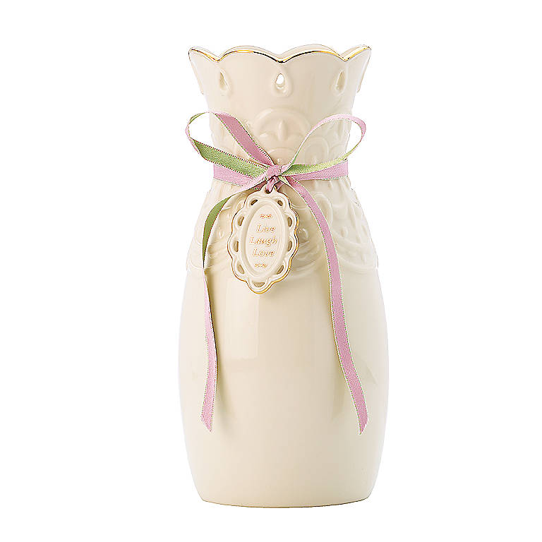 Porcelain Love Notes Loved Bud Vase by Lenox, Gifts by Occasion Mother's Day by Lenox