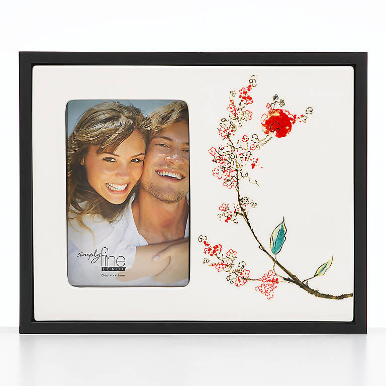 Porcelain Simply Fine Lenox Chirp 2-Sided Photo Frame, Home Decorating Picture Frames by Lenox