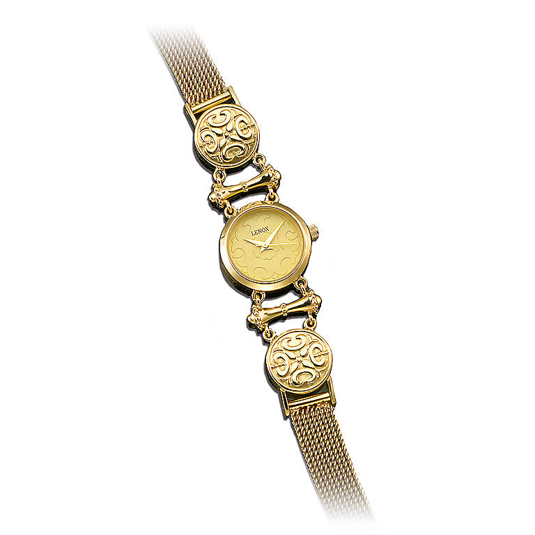 Sterling Silver The Etruscan Sundial Watch by Lenox, Women's Watches by Lenox