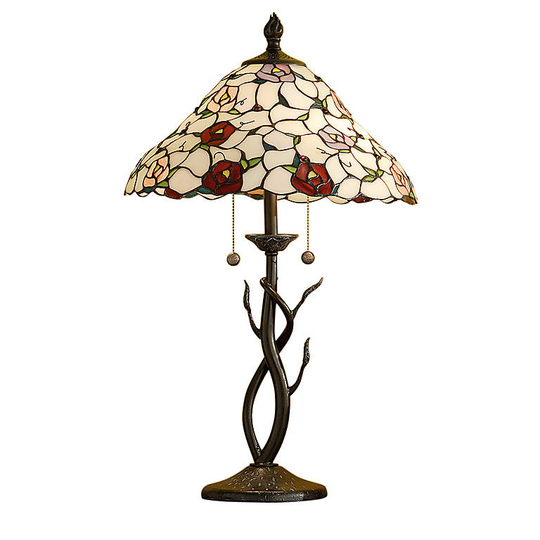 Glass Dale Tiffany Silkstone Table Lamp, Lighting Table Lamps by Lenox