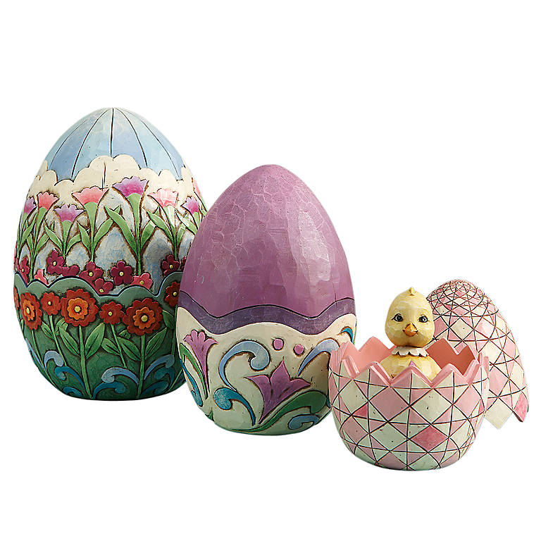 Resin Jim Shore Nesting Easter Eggs Boxes, Set of 3, Gifts by Occasion Easter by Lenox