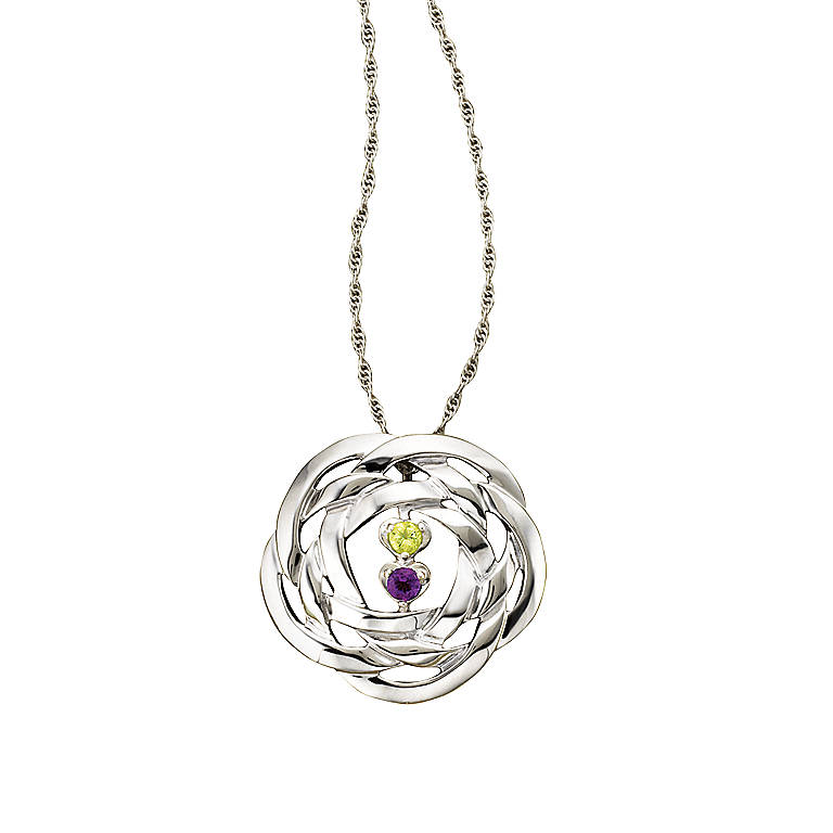Sterling Silver Eternal Embrace Pendant by Lenox, Costume Jewelry by Lenox