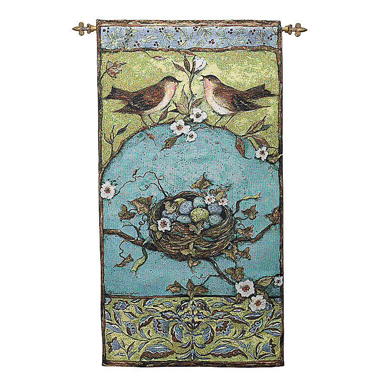 Fabric Morning Song Wall Hanging with Rod, Photography and Prints by Lenox