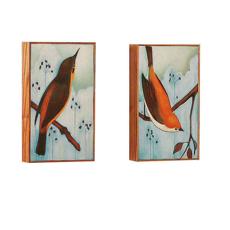 Bird Prints, Set of 2, Photography and Prints by Lenox