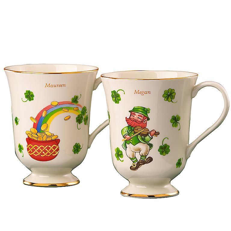 Ivory China Irish Mugs by Lenox, Set of 2, Gifts by Occasion by Lenox