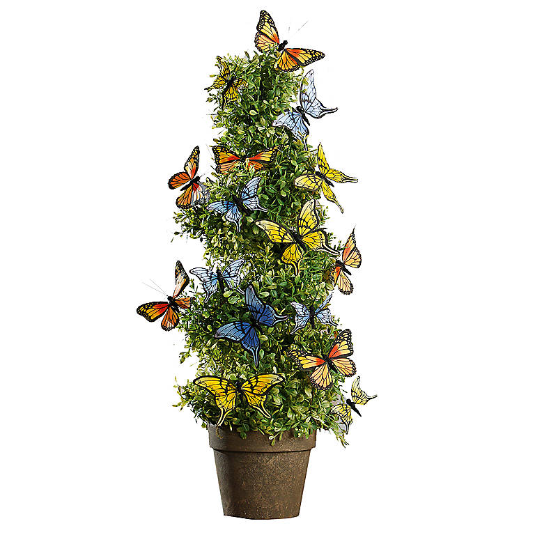 Butterfly Topiary Tree, Miniatures and Figurines Animals by Lenox