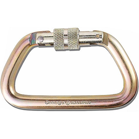 "photo: Omega Pacific 1/2"" Steel Modified D NFPA Screw-Lok locking carabiner"