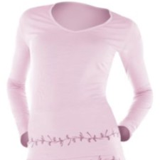 Women's Underwear - Icebreaker Women's Sweet Heart Long Sleeve Intimate Ultralite