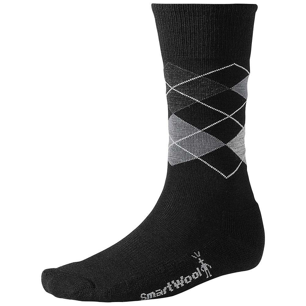 Smartwool Men's Diamond Jim Sock - Large - Black / Medium Grey Heather