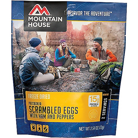Mountain House Scrambled Eggs with Ham, Red & Green Peppers