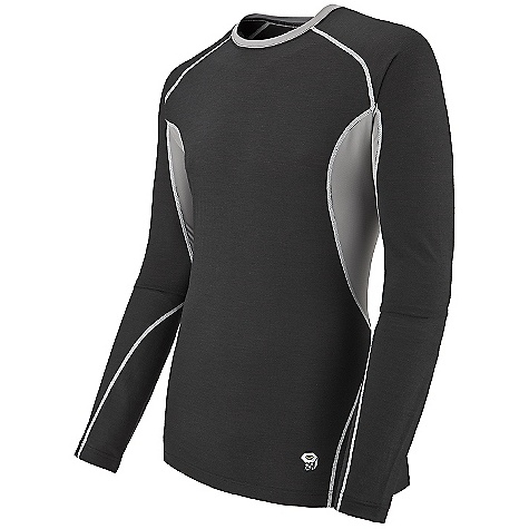 photo: Mountain Hardwear Men's Integral Long Sleeve Crew base layer top