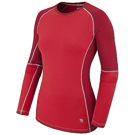 photo: Mountain Hardwear Women's Micro Power Stretch Long Sleeve Crew base layer top