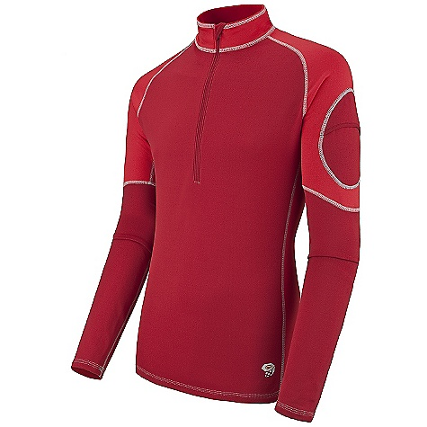 photo: Mountain Hardwear Men's Micro Power Stretch Zip T