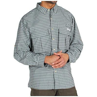 ExOfficio Men's Air Strip Micro Plaid LS Woven