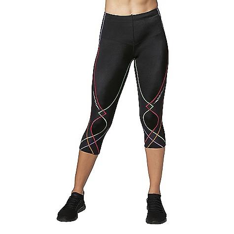 Cw X Women's 3/4 Stabilyx Tights Black / Rainbow Stitch
