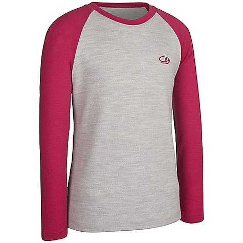 photo: Icebreaker Girls' Oasis Crewe base layer top